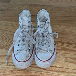 White Hightop Converse